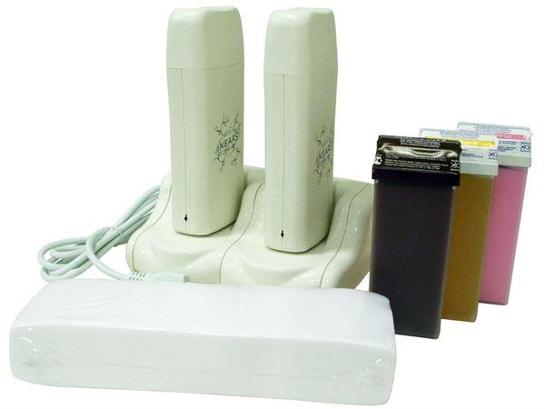 Imagen de Kit Base con dos Calentadores de Cera Tibia Nears + cera + bandas
