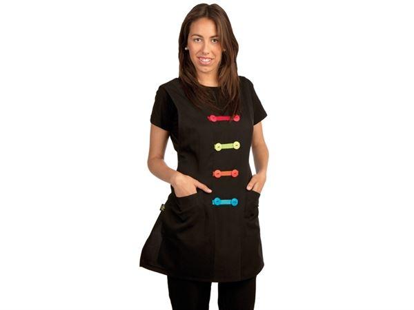 Imagen de Uniforme Estola en Negro con Trevilla de Colores ref. 205N