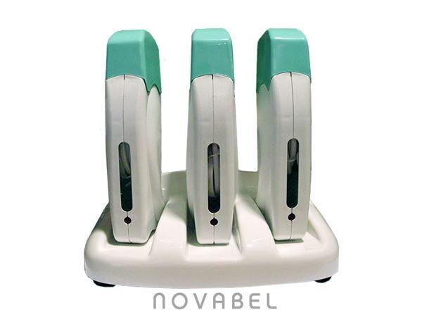 Imagen de Base con 3 aparatos de Depilación de Cera Tibia Profesional tessiline