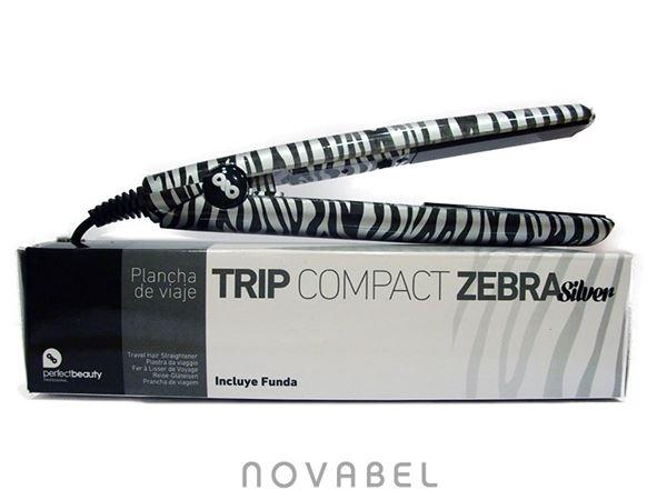 Imagen de Plancha mini de viaje Zebra Silver PB