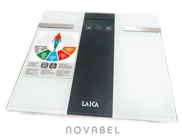Imagen de Bascula de baño electrónica con cálculo composición corporal LAICA