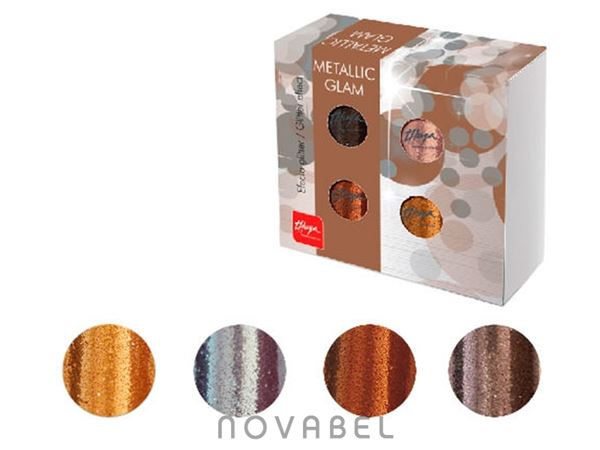 Imagen de Pack Polvos Glitter Metallic Glam (4 unidades) Thuya