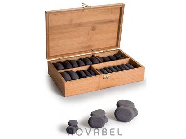 Imagen de Caja de 36 piedras de basalto para masajes