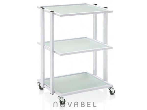 Imagen de Carro de estética y peluquería con tres estantes de cristal PREMIUM 200