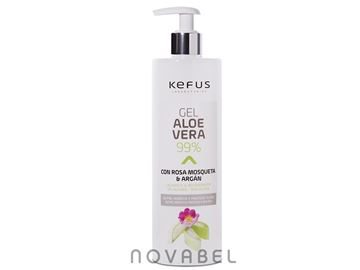 Imagen de Gel aloe vera 99% Kefus rosa mosqueta y argán natural