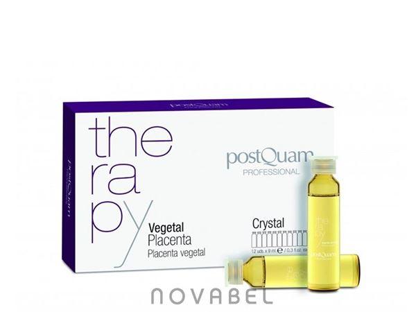 Imagen de Therapy Ampollas Placenta Vegetal PostQuam Crystal Caída 12x9 ml