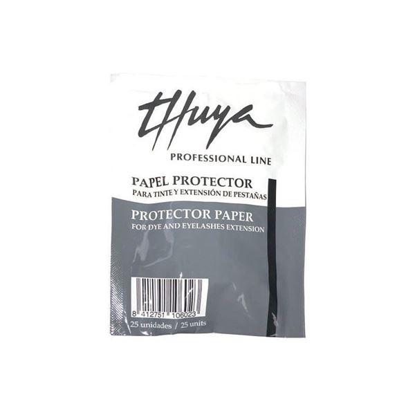Imagen de Protector papel Thuya para extensiones y tinte 25 ud