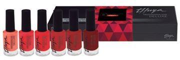 Imagen de Pack Esmaltes Thuya Deluxe Rojos opción B 6 ud