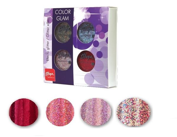 Imagen de Pack Color Glam Thuya glitter 4 ud