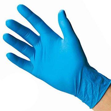Imagen de Guantes de nitrilo elásticos color azul  200 ud