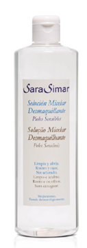 Imagen de Desmaquillante Solución Micelar Sara Simar sin alcohol 500 ml