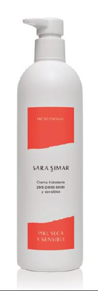 Imagen de Crema Hidratante Sara Simar pieles secas y sensibles 400 ml
