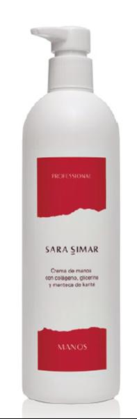 Imagen de Crema de Manos Sara Simar con colágeno, glicerina y karité 400 ml