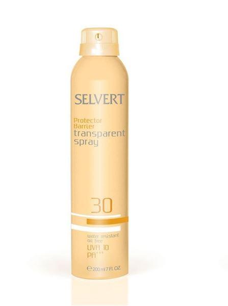 Imagen de Protector Barrier Spray Transparent Selvert SPF30  200 ml