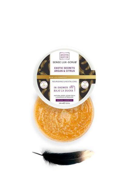 Imagen de Sense Lux-Scrub Aroms Natur Exotic Secrets Argán y Citrus 200 ml
