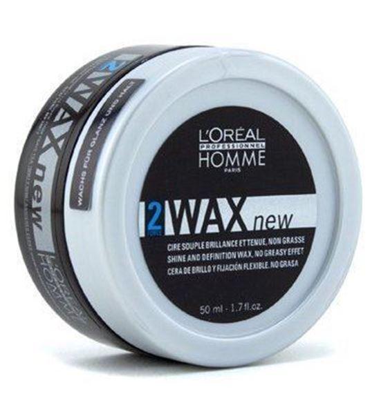 Imagen de Hombre Cera de Brillo Wax Loreal Fijación Flexible 50 ml