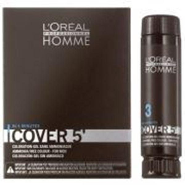 Imagen de Hombre Cover 5 Loreal Coloración Gel sin amoniaco 3x50 ml