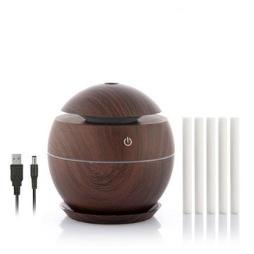 Imagen de Mini Humidificador Difusor de Aromas InnovaGoods Dark Walnut